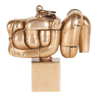 Miguel Berrocal Bronze Micro Maria Pendant, Spain, 1969-1973 For Sale
