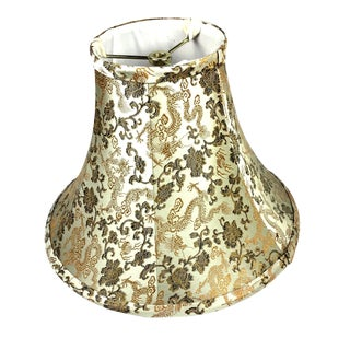 Mid Century Chinoiserie Silk Lamp Shade For Sale