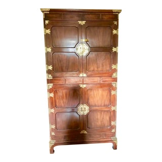 Henredon Tansu Collection Armoire Wardrobe For Sale