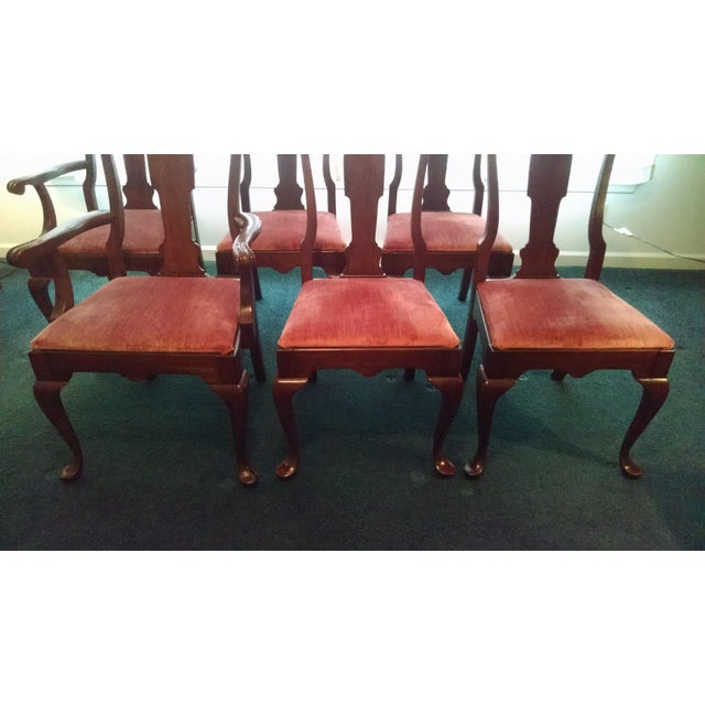 Pennsylvania House Solid Cherry Dining Table & Chairs - Set of 7 - Image 7 of 8