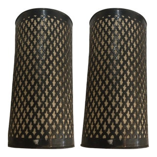 Moroccan Iron Rod Wall Sconces Cover - a Pair For Sale