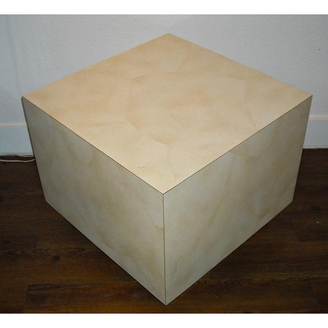 Mid Century Cube End Table Baughman Style - Pair - Image 3 of 4