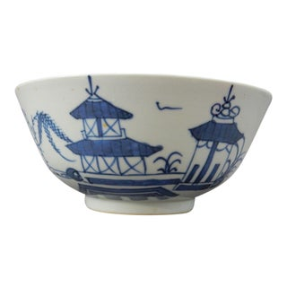 Antique Chinese Export Blue and White Nanking Bowl For Sale