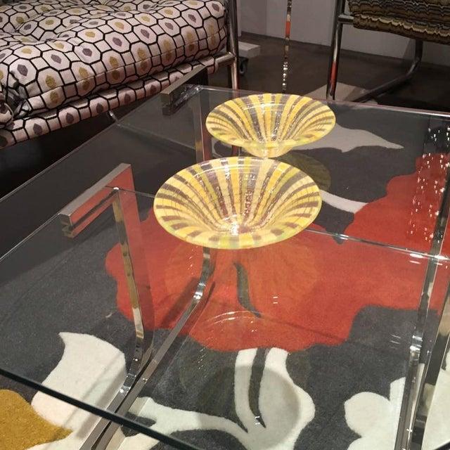 Signed Pair of Higgins Fused Modern Art Glass Bowls - Image 4 of 5