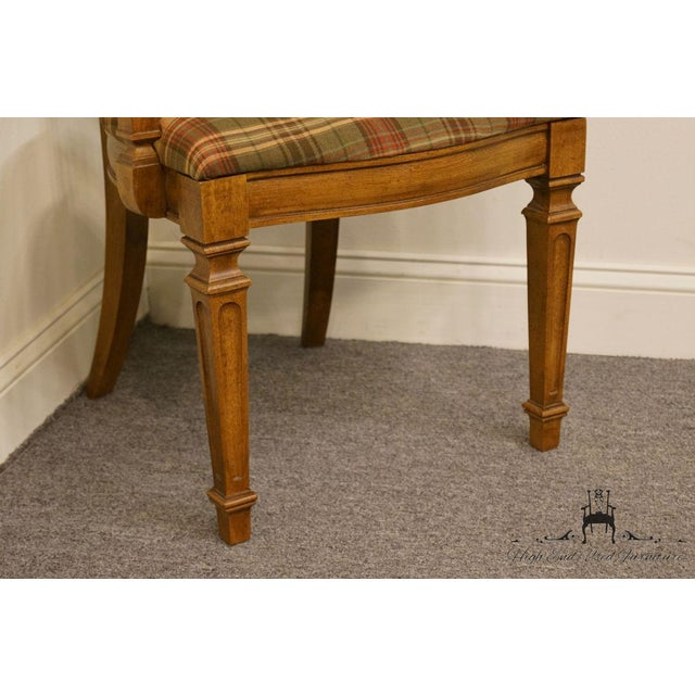 Caning Late 20th Century Vintage Thomasville Furniture Cellini Collection Cane Back Dining Arm Chair For Sale - Image 7 of 13
