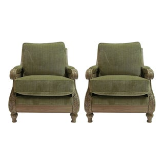 Modern Hancock & Moore Somerset Plush Lounge Chairs- A Pair For Sale