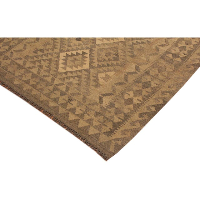 Uriela Gray/Brown Hand-Woven Kilim Wool Rug -4'3 X 5'10 For Sale - Image 4 of 8