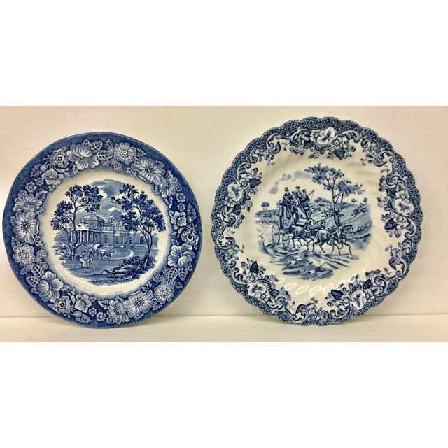 1950s Boho Chic Stoneware England Butter or Pickle Plates - a Pair For Sale - Image 9 of 9