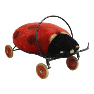 Vintage Ladybug Wheely Toy For Sale