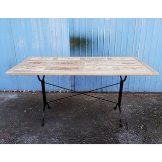 Designer Made Reclaimed Wine Crate Solid Wood Bistro Dining Table Preview