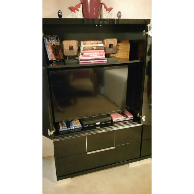 Vintage, Luxe Modern Italian Armoire, Media Unit - Image 6 of 10