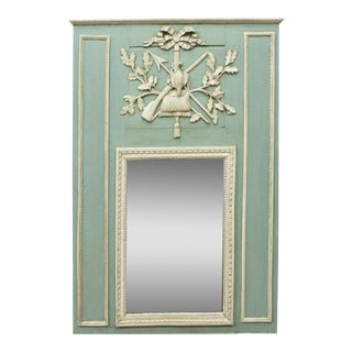 French Louis XVI Style Trumeau Mirror - 19th C For Sale