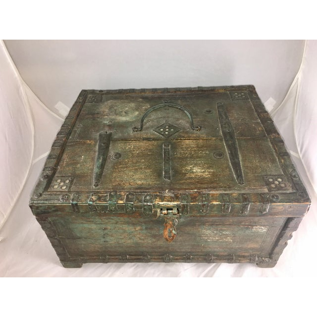 Asian 19 Century Oriental Cashbox For Sale - Image 3 of 10