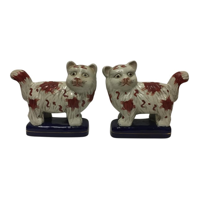 Staffordshire Cats - Pair - Image 1 of 6