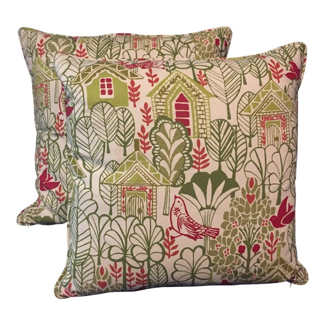 Swedish House Accent Feather Pillows - Image 1 of 6