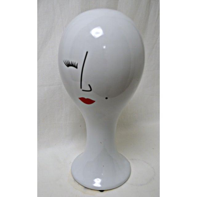 Ceramic Woman Hat Holder - Image 8 of 10