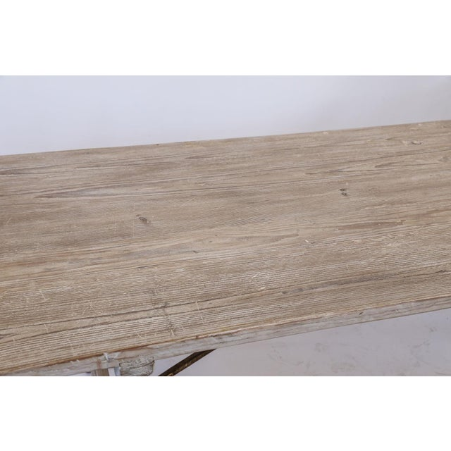Long Painted Pine Trestle Table For Sale - Image 11 of 13
