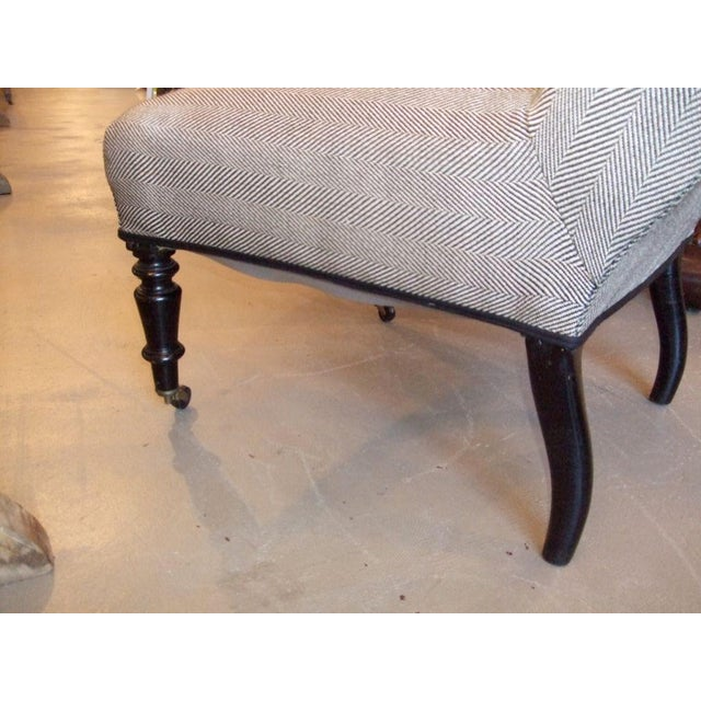 Gray 19th Century Napoleon III Slipper Chair For Sale - Image 8 of 10