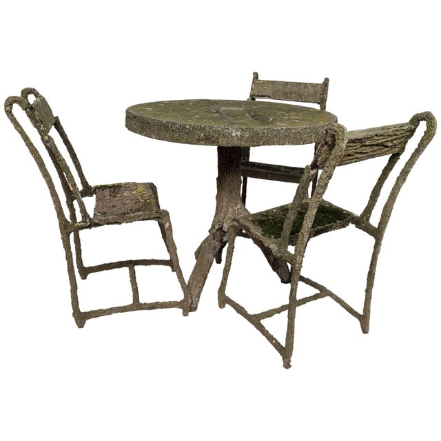 Set Of Very Early Faux Bois Furniture, Faux Bois Furniture