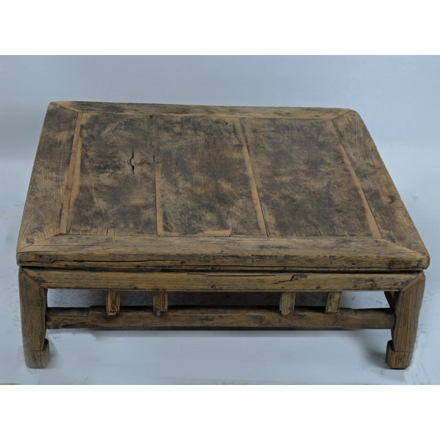 Rustic 1910s Rustic Square Shandong Coffee Table For Sale - Image 3 of 6
