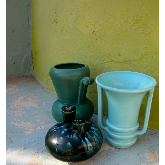 Mid-Century Modernist Pottery Vases - Set of 3 - Image 6 of 10