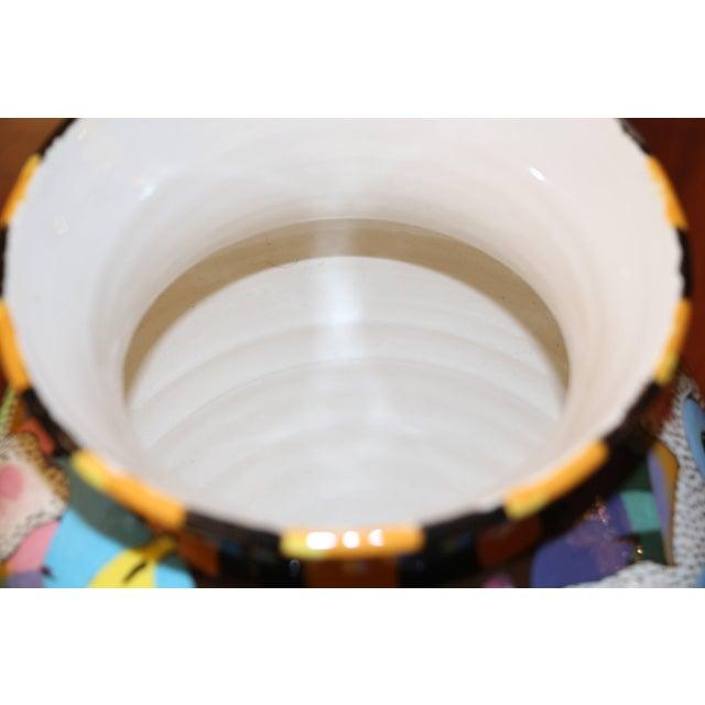 Whimsical David Gurney Glazed Vessel For Sale - Image 4 of 7
