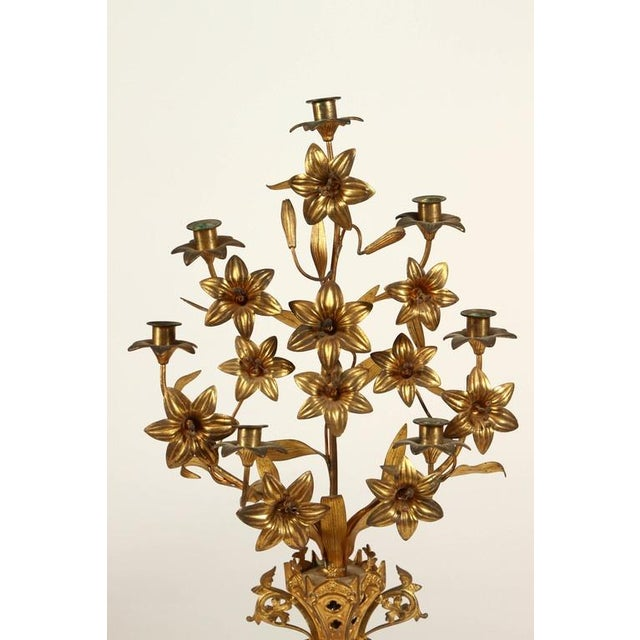 Baroque Pair of French Candlesticks For Sale - Image 3 of 9