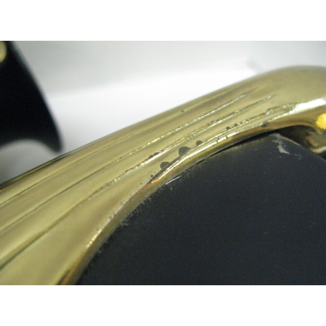 Black & Brass Art Deco Metal Vases - A Pair - Image 8 of 11