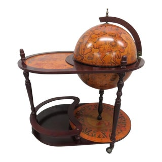 World Globe Italian Bar Serving Cart