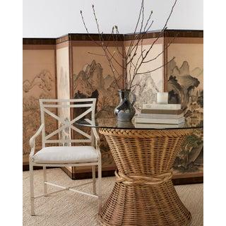 Set of Six Brown Jordan Aluminium Patio Garden Chairs Preview