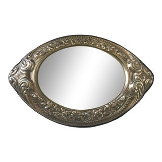 1900s Repousse Mirrored Vanity Tray For Sale