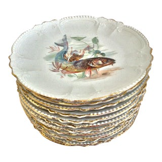Bavarian Fish Plates - Set of 12