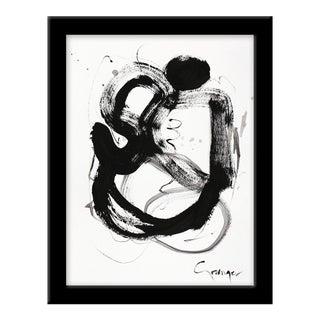 """Small """"Noir Et Blanc Nombre 4"""" Print by Lesley Grainger, 10"""" X 13"""" For Sale"""