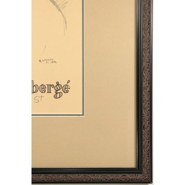 Raphael Soyer 1954 Original Print for Faberge - Image 4 of 4