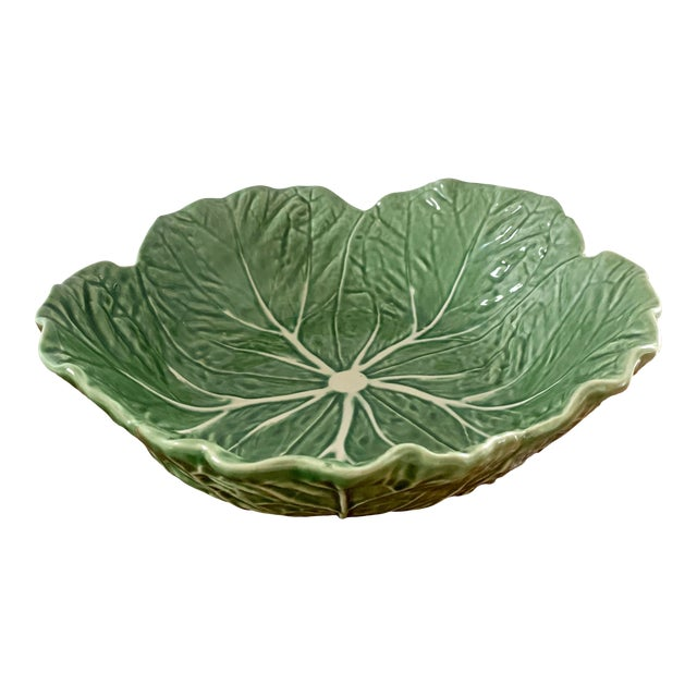 Vintage Portuguese Ceramic Cabbage Bowl For Sale