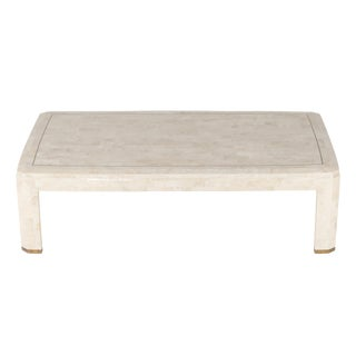 1980's VINTAGE MAITLAND SMITH TESSELLATED CORAL COFFEE TABLE