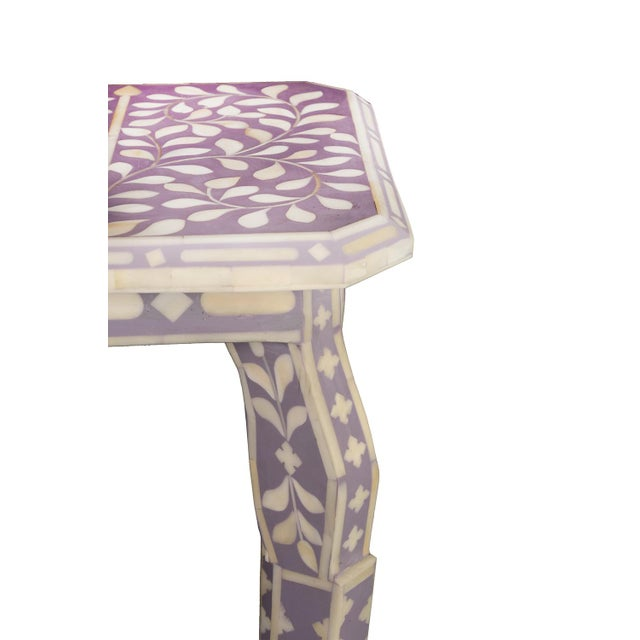 Contemporary Imperial Beauty Telephone Table in Lilac/White For Sale - Image 3 of 5