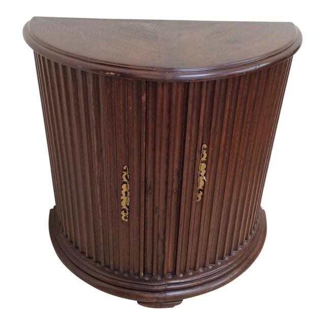 Rustic Primitive Demilune Cabinet For Sale