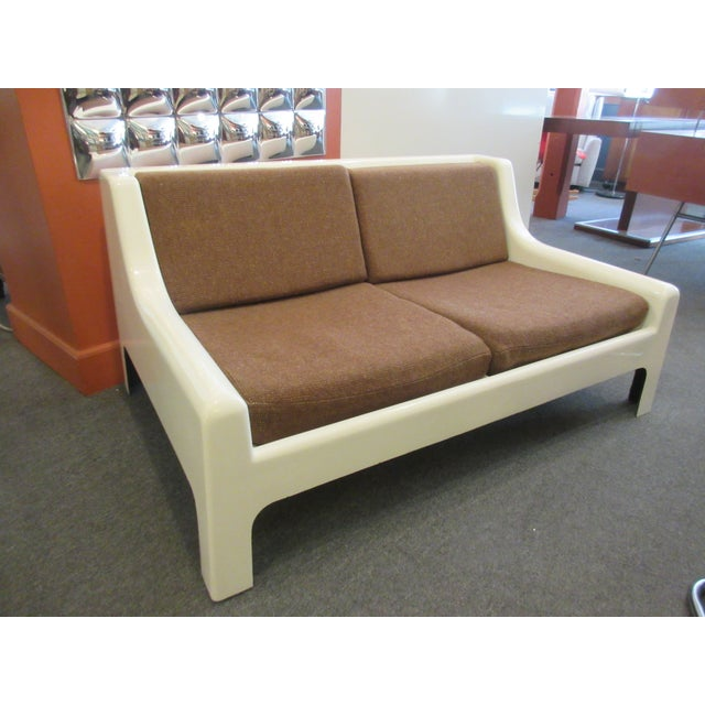 Cappellini Sofa and Chair set in Painted White Fiberglass - Image 2 of 10
