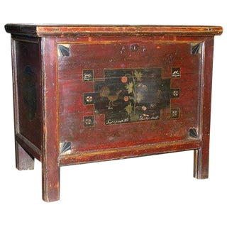 Painted Hope Chest, Blanket Box or Dowry Chest, Circa 1840 For Sale