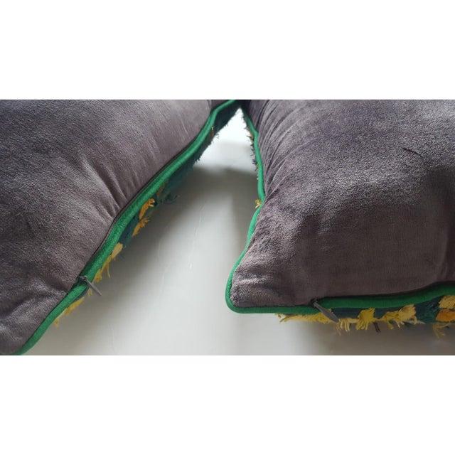 Velvet Beaded Throw Pillows - A Pair - Image 7 of 7
