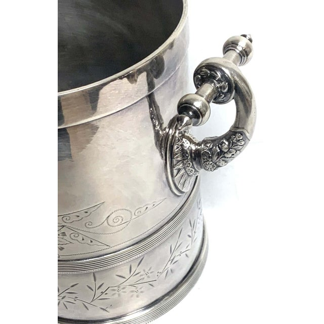 American Aesthetic Silver Plated Champagne/Ice Bucket, by Meriden Silver Co For Sale - Image 9 of 10