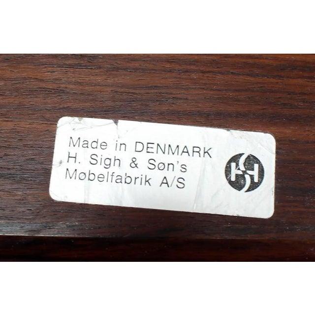 Very nice Danish Mid-Century Modern folding legs serving tray or miniature table.
