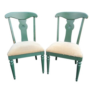 Ethan Allen Country Crossings Hunter Green Dining Chairs For Sale