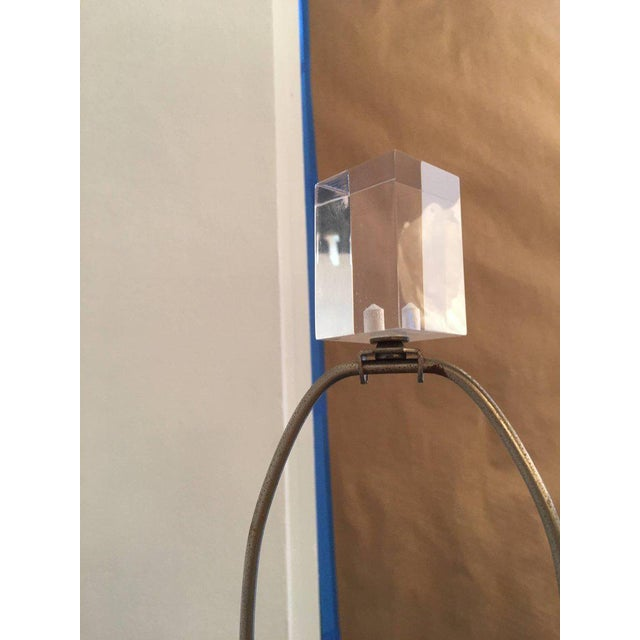 Mid 20th Century Vintage Geometric Lucite Floor Lamp For Sale - Image 5 of 11