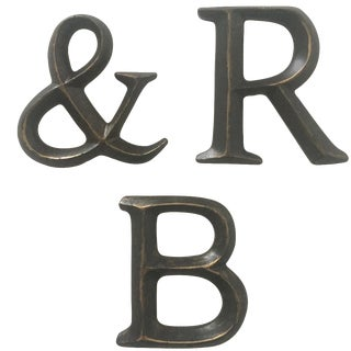 "Vintage Wall Mount Resin Letters "" R & B "" For Sale"