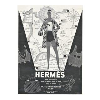 Matted Art Deco Hermes Beach Fashion Print