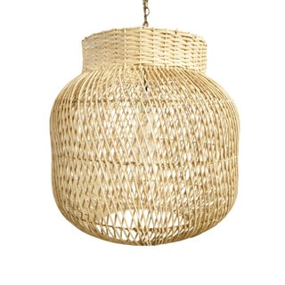 Natural Wicker Jar Lantern