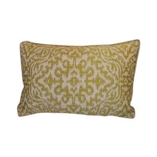 """Green Silk/Linen Lumbar Pillow 19"""" x 12"""""""