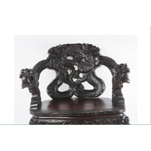 Chinese Carved Rosewood Armchair - Image 3 of 8